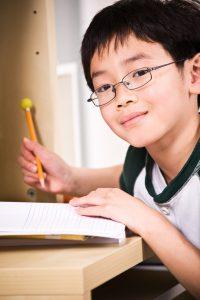 Studying kid
